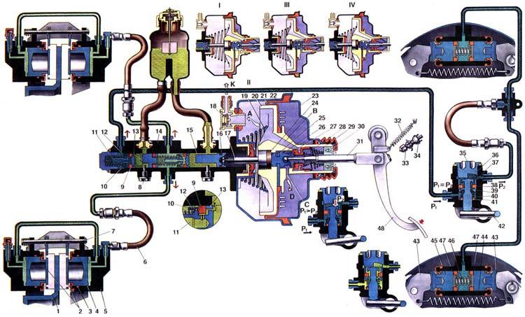 схема тормозная система ваз
