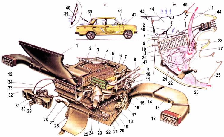 ВАЗ 2105 Отопление и